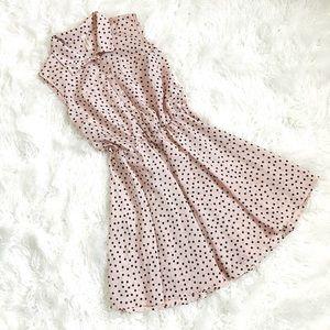 Dresses & Skirts - Pink Collared Polka Dot Dress